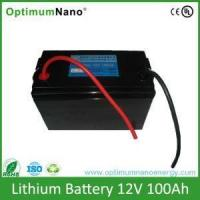 12V 100Ah Battery for Solar Wind Deep Cycle LiFePo4 Battery Manufactures