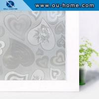 Buy cheap H10006 Heart decorative static cling window film privacy from wholesalers