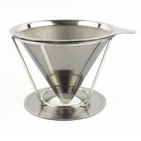 China Paperless Pour Over Stainless Steel Coffee Dripper Reusable Permanent Drip Coffee Maker on sale