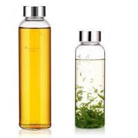 Buy cheap Heat Resistant Promotion Transparent 1000ml Handmade Borosilicate Glass Water Bottle Manufacturer from wholesalers