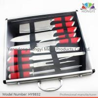 Buy cheap Swiss colored handle kitchen knife set in aluminum case from wholesalers