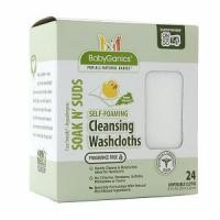 Wholesale BabyGanics Soakin' Suds Disposible Washcloths, Fragrance Free from china suppliers