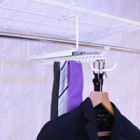 White Gliding Tie&Belt Rack with Valet Hook Manufactures