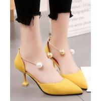 Buy cheap High-heeled sexy pearl shoes low Korean style sandals from wholesalers