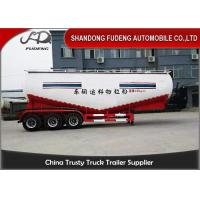 Buy cheap 50 Ton 3 Axles Bulk Cement Tanker Trailer Dimension 13000mm * 3990mm * 2500mm from wholesalers