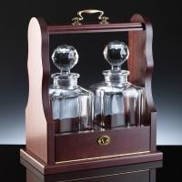 Wholesale 320.93T2: Windsor 24% Lead Crystal Square Spirit Decanter Whisky Set, Tantalus from china suppliers