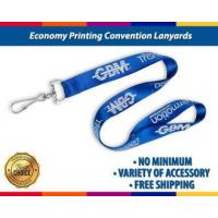 Buy cheap Economy Plastic Clips Convention Lanyards with Badge Reels Printing with No Minimum from wholesalers