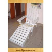 China Garden Furniture Wood ADIRONDACK Chair and Foot Rest for Sale on sale