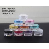 Transparent 3g 5g Small Square Plastic Cosmetic Jars Manufactures