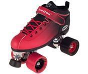 China Roller Skates Riedell Roller Skates Dart Ombre Red Black Fade on sale