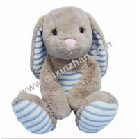 China Rabbit Plush Toys|soft Toys Light Blue Grey Milky White Yellow Long Ear Sitting for Sale on sale