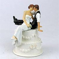 Buy cheap Derker Wedding Cake Topper Love Bride and Groom Figurine--Kiss,Christmas gift from wholesalers