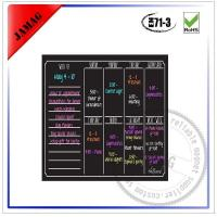 Buy cheap Magnetic black dry erase board with marker pen from wholesalers