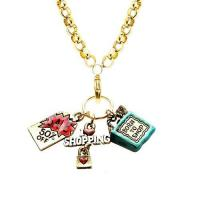 Buy cheap Bracelets Shopper Mom Charm Necklace in Gold from wholesalers