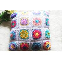 Buy cheap Coloful Design Of Pure Cotton Handmade Crocheted Throw Pillow from wholesalers