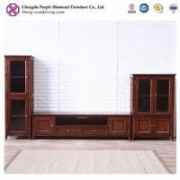 Buy cheap Living room cabinets TV wall units design wooden tv table for home from wholesalers