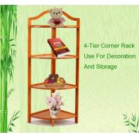 Buy cheap bamboo bathroom accessories corner rack from wholesalers
