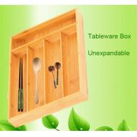 Buy cheap bamboo drawer cutlery tray flatware tray from wholesalers