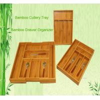 Wholesale bamboo cutlery tray drawer organizer tableware box from china suppliers