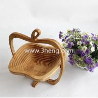 Wholesale eco-friendly folding bamboo fruit basket from china suppliers