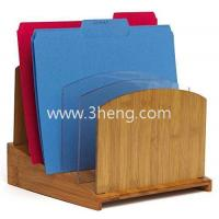 Buy cheap Bamboo File Folder Organizer with Acrylic Dividers from wholesalers