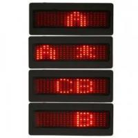 Buy cheap Red Programmable LED Badge Moving Scrolling Message Tag Sign Display from wholesalers