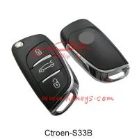 Buy cheap Car Keys Citroen 3 Buttons Flip Folding Car Key Replacement from wholesalers