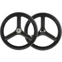 Buy cheap 65mm Tubular Tri Spokes Carbon Wheels 700C Road Bike Racing Carbon Wheelset from wholesalers