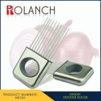 Buy cheap fashion stainless steel Onion chopper Slicer Vegetable tool onion holder for slicing from wholesalers