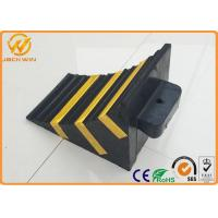 Buy cheap Recycled Rubber Truck Vehicle Wheel Stops Chock for Parking Lock / Hotel / Garage from wholesalers