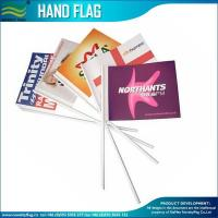 157gsm coated paper promotion hand waving Stick flags