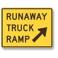 Buy cheap Runaway truck ramp sign W7-4B from wholesalers