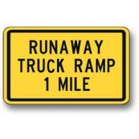 Buy cheap Runaway truck ramp sign W7-4 from wholesalers