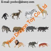Buy cheap Small Custom Plastic African Zoo Animals Figurines Bulk for Kids from wholesalers