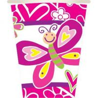 Wholesale BUTTERFLIES - 8 PCS 10 OZ. CUPS from china suppliers
