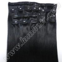 Wholesale Clip In Wholesale #1 Clip on 20inch Clip in Human Hair Extensions from china suppliers