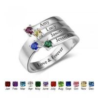 Wholesale Best Dropship Product * Birthstone & Engraved Sterling Silver Ring#RI102557 from china suppliers
