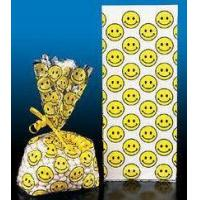 Buy cheap Party Supplies Smiley Face Cellophane Bags (1 dz) from wholesalers