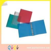 Buy cheap customized a4 or letter size school usage friendly qiqi plastic poly/pp ring binder from wholesalers