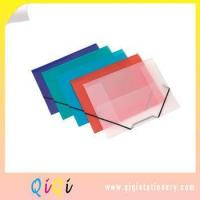 Buy cheap poly plastic pockets file folder with elastic closure from wholesalers