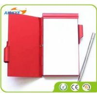 Buy cheap Mini aluminum notebook with pen/pocket notebook from wholesalers