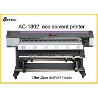 Wholesale ECO Solvent Printer AC-1802 6 Feet Dual DX7 Print Head Small Format ECO Solvent Printer from china suppliers