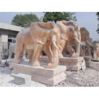 Buy cheap Life Size Stone Marble Elephant for Garden Decoration from wholesalers