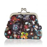 Buy cheap Women's Colorful Trendy Floral Sequin Kiss Clasp Coin Purse from wholesalers