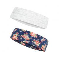 Buy cheap Vintage Floral Print And Classic Grey 2 Colors Stretchy Multi Use Jersey Wide Headband from wholesalers