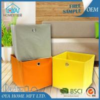 Wholesale Colored Cardboard Cube Storage Basket Bins for Organizing from china suppliers
