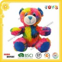 Buy cheap TOYS Cheap Plush Bear in Rainbow Color from wholesalers