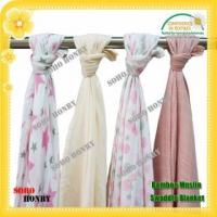 Buy cheap TEXTILES 100% Bamboo Muslin Swaddle Baby Blanket from wholesalers