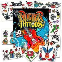 Wholesale Rock Star Temporary Tattoos Party Favor Set (50 Rocker Tattoos) from china suppliers