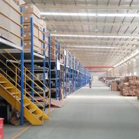 China Two-layer Industrial Heavy Duty Warehouse Storage Metal Mezzanine Floors Rack System In Qingdao on sale